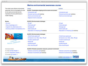 ProSea_Model_Course_Screen