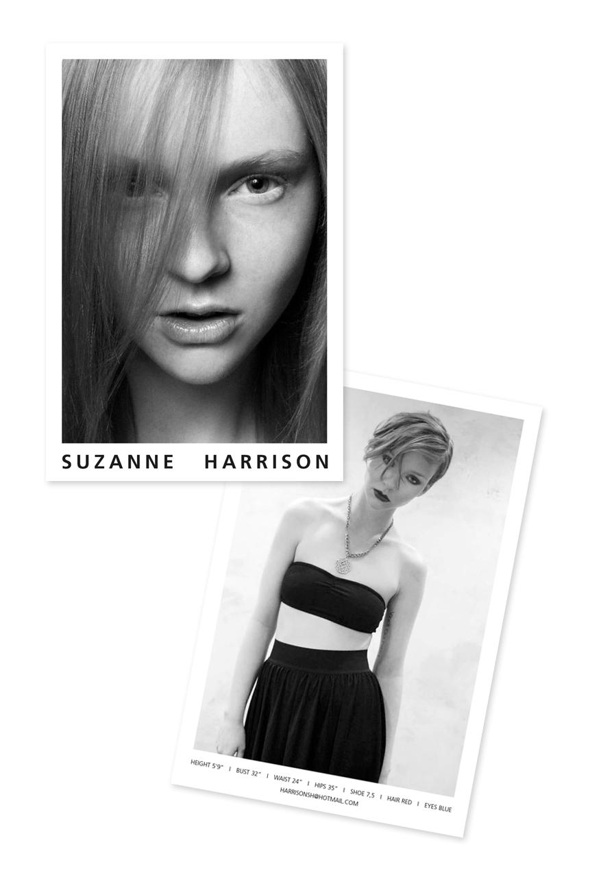 Comp Card Suzanne Harrison