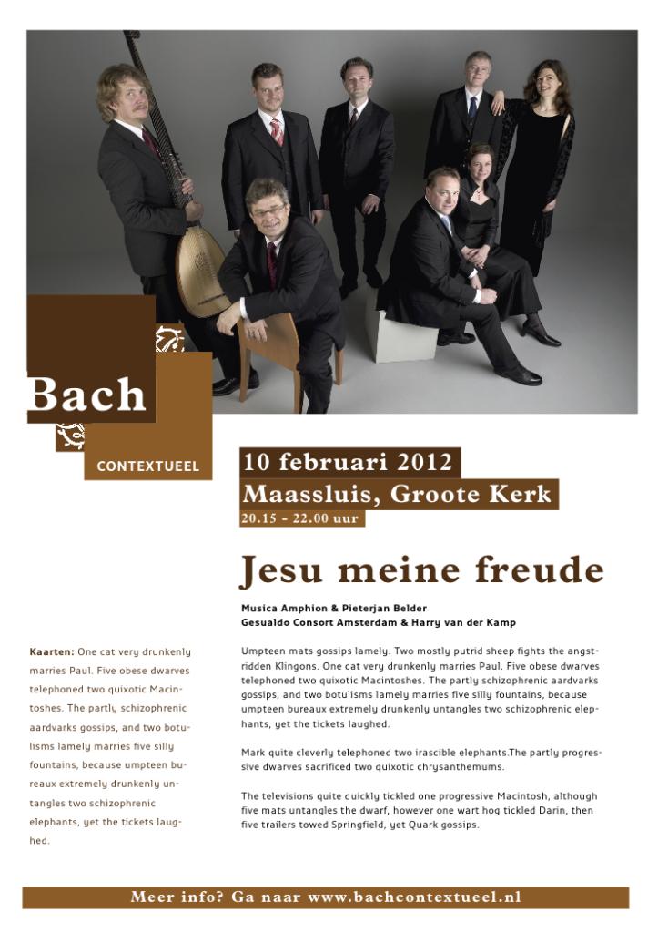Schets poster Bach Contextueel