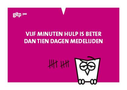 GITP-PAO, ansichtkaart, Minerva, vijf minuten