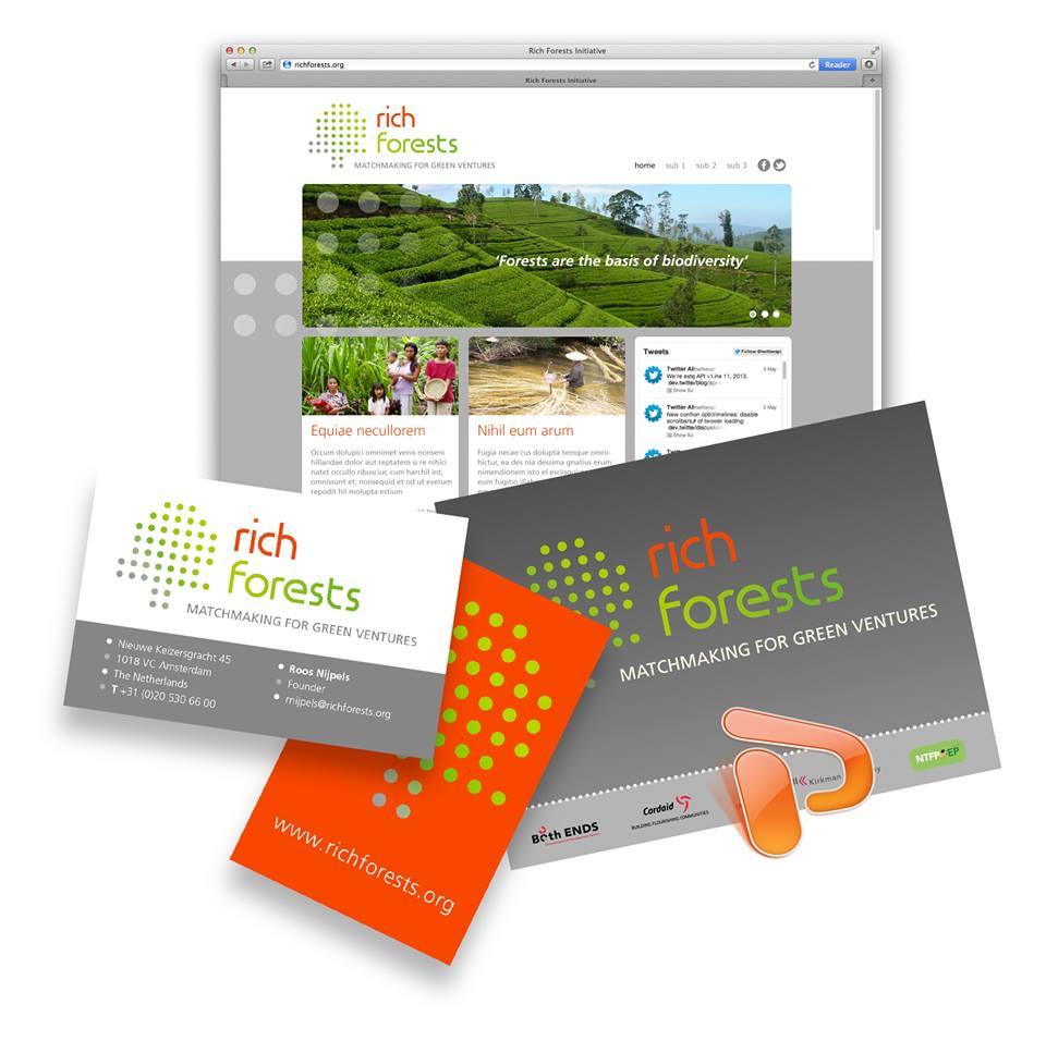Huisstijl ontwerp Rich Forests