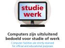 HvA poster computergebruik