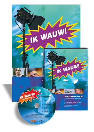 DVD poster en musical tekstboek cover ontwerp door Dickhoff Design