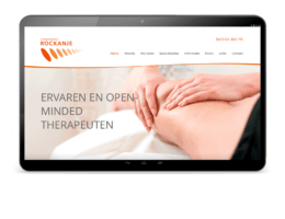 Website ontwerp homepage Fysiotherapie Rockanje