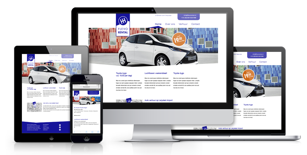 Flevo Rental website