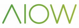 Logo ontwerp en grafische vormgeving van mobiele apps voor AIOW woordbeeld door Dickhoff Design