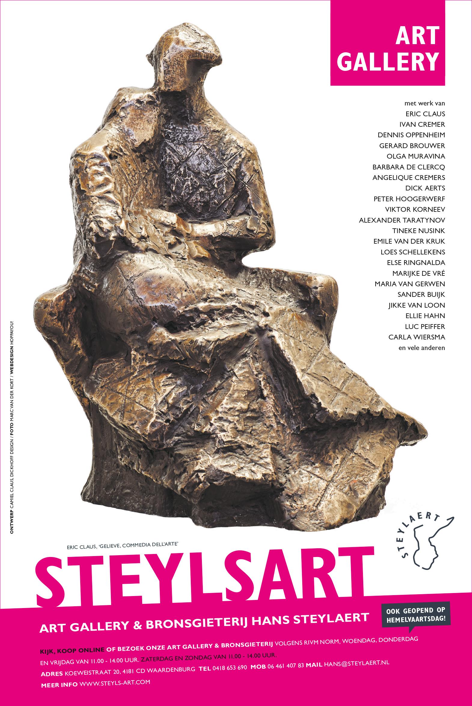 Krant advertentie kunst laten ontwerpen - Eric Claus