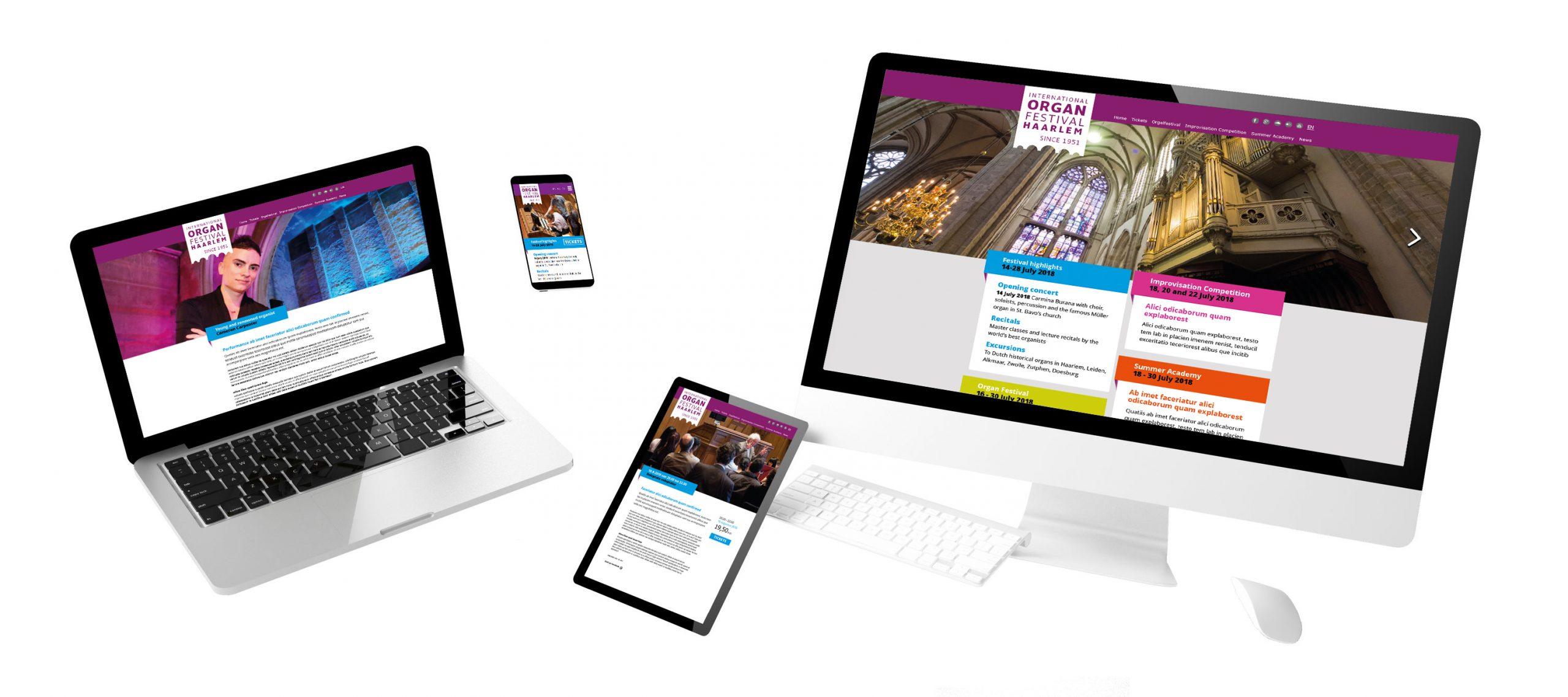 Website ontwerp door Dickhoff Design, Orgelfestival Haarlem