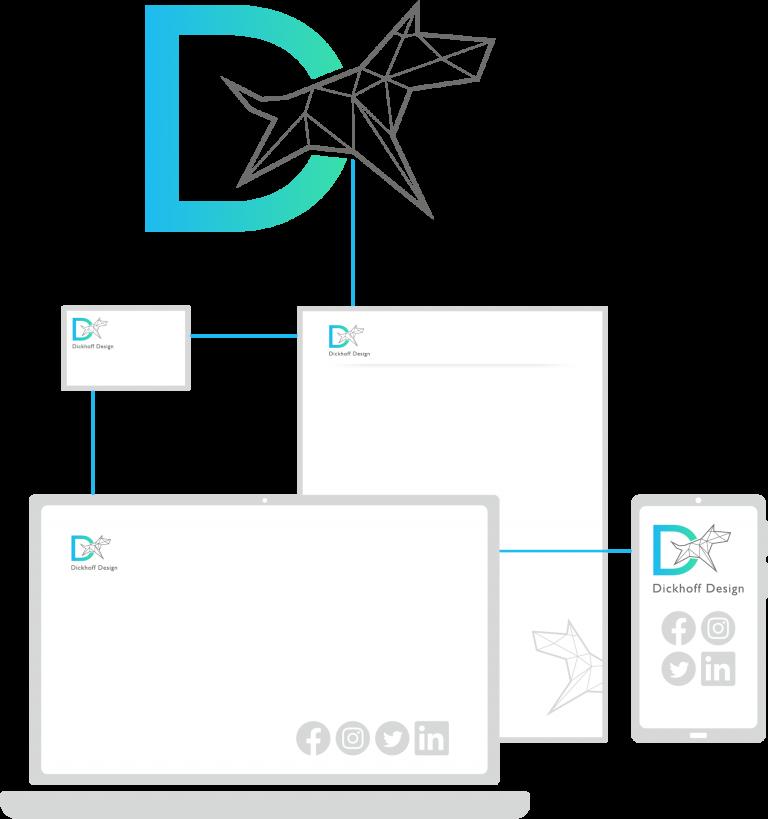 logo voor website social media briefpapier visitekaartje