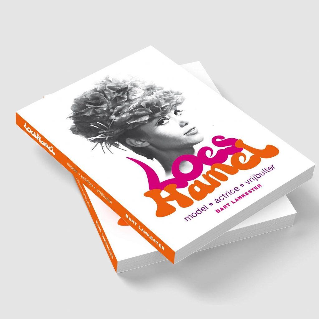 Boekontwerp door Dickhoff Design van de biografie Loes Hamel door Bart Lankester