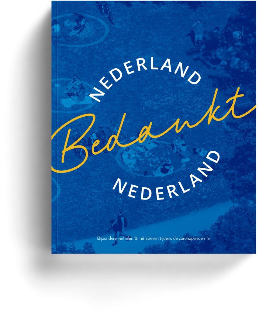 Boen ontwerp, Nederland Bedankt. Boek laten ontwerpen door Dickhoff Design Amsterdam