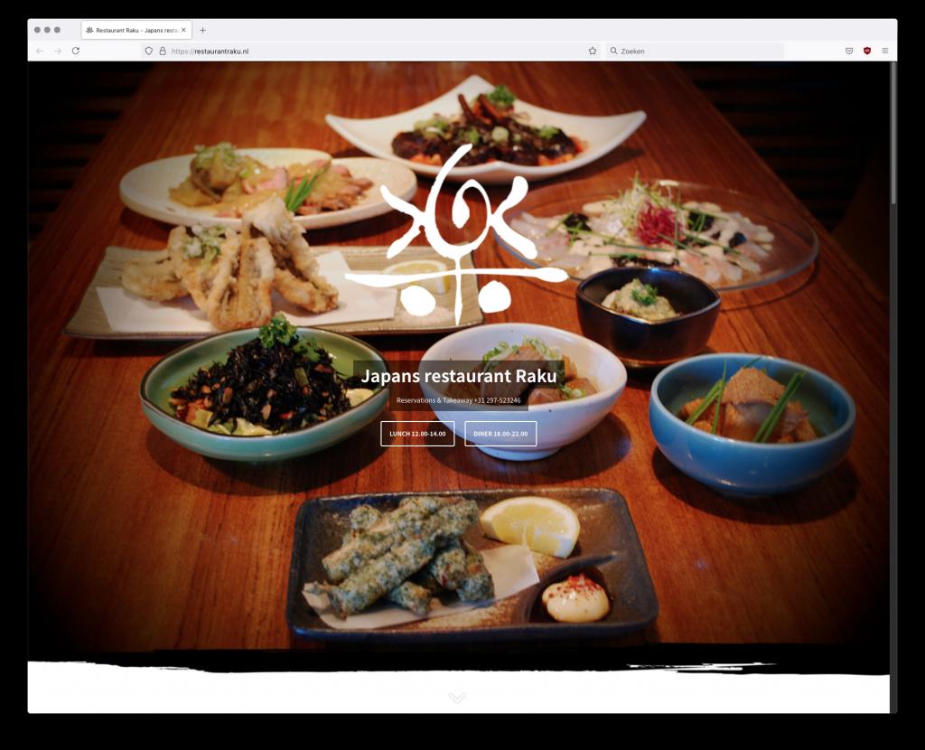 website restaurantraku homepage